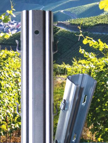 Galvanised Steel Vineyard Posts